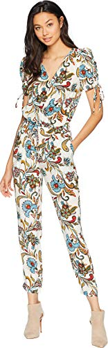 Juicy Couture Women's Ornate Floral Paisley Silk Jumpsuit Angel Ornate Floral Medium