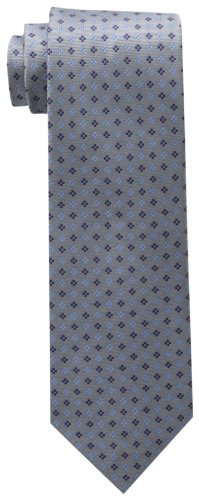 Tommy Hilfiger Men's Core Neat II Tie, Silver, One Size