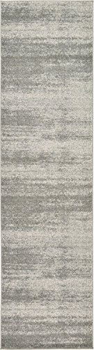Unique Loom Del Mar Collection Contemporary Transitional Gray Runner Rug (3′ x 10′)