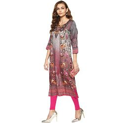 Lagi Kurtis Ethnic Women Kurta Kurti Tunic Digital Print Top Dress Casual Wear New Launch by Magenta