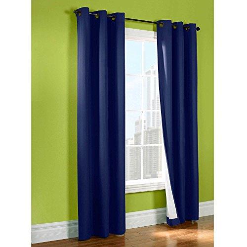LuxuryDiscounts 2 Piece Solid FAUX SILK BLACKOUT Grommet Window Panel Curtain Drapes with Foam B ...