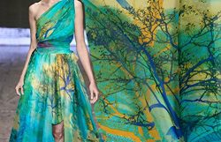 Pure Silk Chiffon Fabric – 100% Silk Cloth Elegant Semi-transparent Scarf Fabric Dress Clo ...