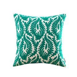 HWY 50 Cotton Embroidered Decorative Throw Pillow Covers Cushion Cases for Couch Sofa Bed Bedroo ...