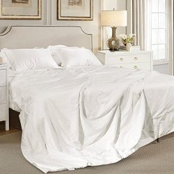 ElleSilk Silk Duvet, Filled with 100% Natural Long Fiber Mulberry Silk, 400 Thread Count Cotton  ...