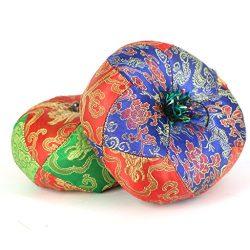 MagiDeal Random 1 Piece Tibetan Singing Bowls Round Cushion 14cm Handmade in Nepal