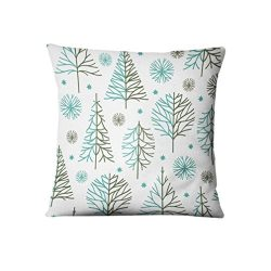 Allywit Christmas Rectangle Cushion Cover Silk Throw Pillow Case Pillowcase (F)
