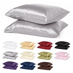 2pc New Queen/Standard Size Or King Size Silk~y Satin Pillow Case Multiple Colors By Orly' ...