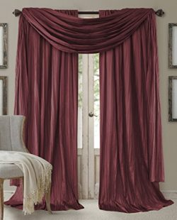Elrene Home Fashions 026865855180 Window Curtain Drape Rod Pocket Panel, Set of 3, 52″ x 8 ...