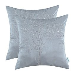 CaliTime Pack of 2 Cushion Covers Throw Pillow Cases Shells Sofa Couch Home Decoration Natural T ...