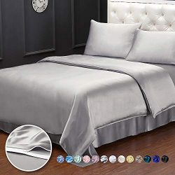 LilySilk Silk Queen Duvet Cover 19 Momme Soft Breathable Quilt Cover Pure Mulberry Silk Comforte ...