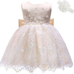 Moon Kitty Baby Girl Newborn 3D Flower Party Cute Dresses Pagent Lace Dress Gown for Baby Girls  ...