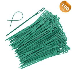 EuTengHao 100 Pieces Adjustable Garden Plant Twist Ties, 6.7 Inch Flexible Plastic Twist Ties Mu ...