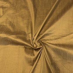 100% Pure Silk Dupioni Fabric 54″ Wide BTY Drape Blouse Dress Craft (Antique Gold)