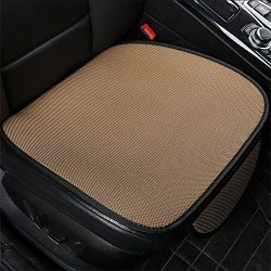 New Cushion Summer Cool Breathable Non-Slip car seat Cover Office Home seat Cushion(Beige C)