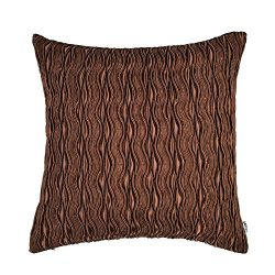 Artcest Decorative Throw Pillow Case, Comfortable Solid Faux Silk Cushion Cover, Pintuck Pleated ...