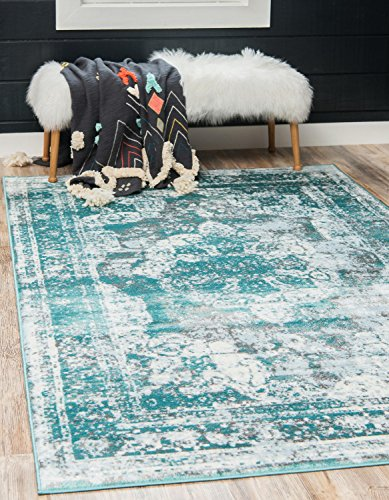 Unique Loom Sofia Collection Traditional Vintage Turquoise Area Rug (9′ x 12′)