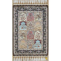Yilong 2'x3′ Handmade Oriental Turkish Silk Rug Home Tapestry Four Season Hand Knott ...