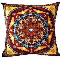 European Colorful Retro Floral Bohemian Ethnic Style Moroccan Flowers Cotton Linen Home Throw Pi ...