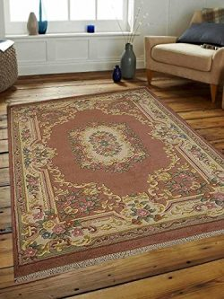 Hand Knotted Aras Wool 3'x5′ Oriental Area Rug Vintage Rose