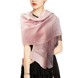ARPC Lightweight Scarfs with Mulberry Silk – Long Pearl Scarf for Ladies Gifts.Fashion Sat ...