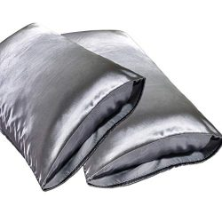 JINHONGRUI Silk Satin Pillowcase for Hair and Skin, Facial Beauty Hypoallergenic, No zipper Pill ...