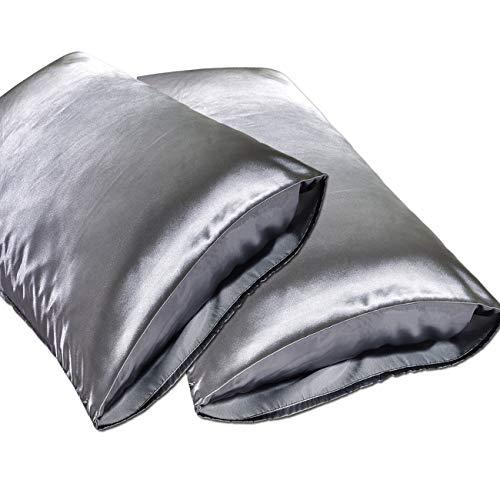 JINHONGRUI Silk Satin Pillowcase for Hair and Skin, Facial Beauty Hypoallergenic, No zipper Pill ...