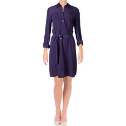 Tory Burch Womens Rylie Silk Printed Shirtdress