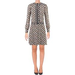 Tory Burch Womens Nicoletta Pattern Contrast Trim Mini Dress