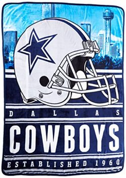 Northwest Officially Licensed NFL Dallas Cowboys Stacked Silk Touch Throw Blanket, 60″ x 8 ...
