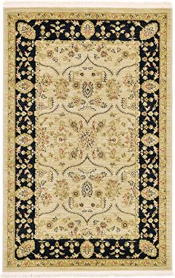 Unique Loom Edinburgh Collection Oriental Traditional French Country Beige Area Rug (3′ x  ...