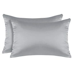 BYSURE 2 Pack Satin Silk Pillowcases for Preventing Hair Knotted & Facial Skin Wrinkle with  ...