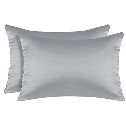 Bysure 2 Pack Satin Silk Pillowcases For Preventing Hair