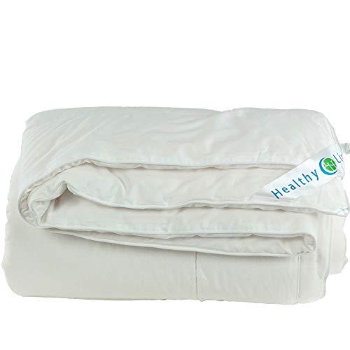 HL HEALTHYLINE – Energy Duvet Comforter White – Mulberry Silk Filling – Luxuri ...