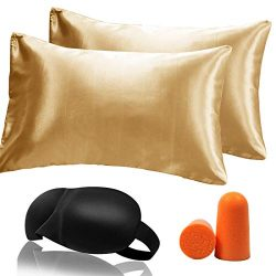 YoUoY Satin Pillowcase Good for Hair Cool and Easy to WASH No Zipper, Such as Silk Pillowcase Ef ...