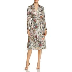 Tory Burch Womens Vanessa Silk Metallic Maxi Dress