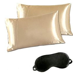 Minda Satin Pillowcases Set Hair Skin, Silk Pillowcase Prevents Sleep Wrinkles, Envelope No Zipp ...