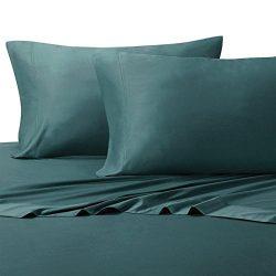 Royal Hotel Queen Teal Silky Soft Bed Sheets 100% Bamboo Viscose Sheet Set