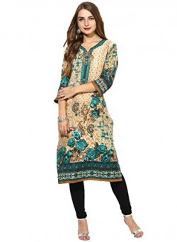 Lagi Kurtis Ethnic Women Kurta Kurti Tunic Digital Print Top Dress Casual Wear New Launch S, Gre ...