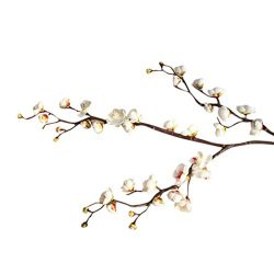 Artificial Flowers, MaxFox Fake Plum Blossom Bouquet Silk Flower Bouquets Home Office Wedding Pa ...