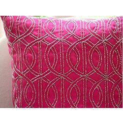 The HomeCentric Handmade Fuchsia Pink Decorative Pillows Cover, Lattice Trellis Pillows Cover, 1 ...