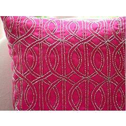 The HomeCentric Handmade Fuchsia Pink Decorative Pillows Cover, Lattice Trellis Pillows Cover, 1 ...