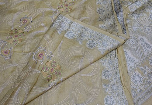 Vintage Indian Saree 100% Pure Silk Saree Hand Embroidered Crafted Wrap Drape Sari Women's Wear  ...