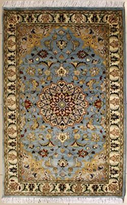 RugsTC 3'0 x 5'3 Pak Persian Area Rug with Silk & Wool Pile – Floral Desig ...