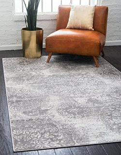 Unique Loom Sofia Collection Traditional Vintage Light Gray Area Rug (8′ x 10′)