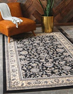 Unique Loom 3124947 Area Rug, 9′ x 12′ Rectangle, Black