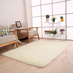 Clearance  Tuscom Silk Fluffy Anti-Skid Shaggy Area Rug,for Dining Room Home Bedroom Carpet Floo ...