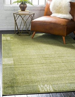 Unique Loom Del Mar Collection Contemporary Transitional Light Green Area Rug (3′ x 5′)