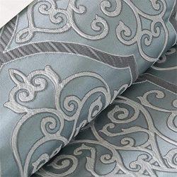 Madison Park LaVine Queen Size Bed Comforter Set Bed in A Bag – Blue, Jacquard Vine Fretwo ...