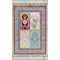 Yilong 2'x3′ Handmade Silk Rug Oriental Tabriz Persian Garden Design Tapestry Hand K ...
