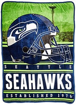Northwest Officially Licensed NFL Seattle Seahawks Stacked Silk Touch Throw Blanket, 60″ x ...